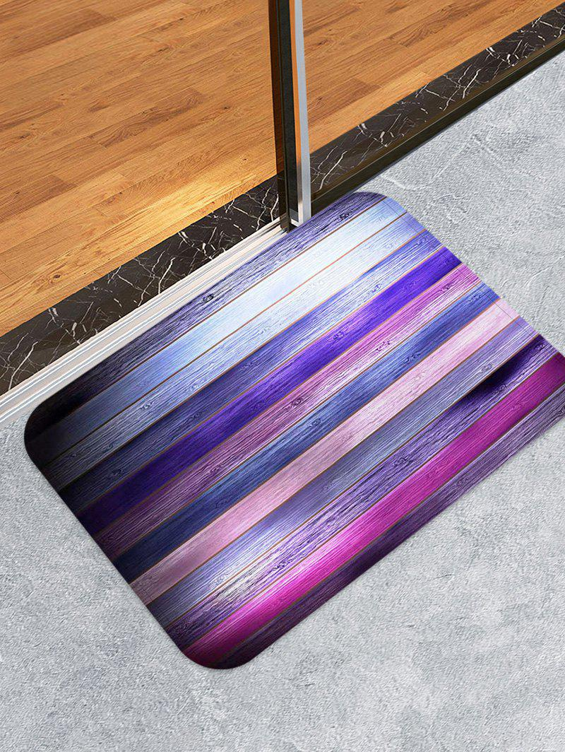 Latest Colorful Wooden Pattern Skidproof Area Rug