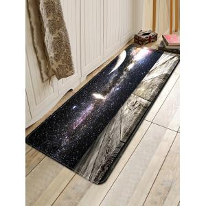 Milky Way Wood Grain Print Water Absorption Area Rug -