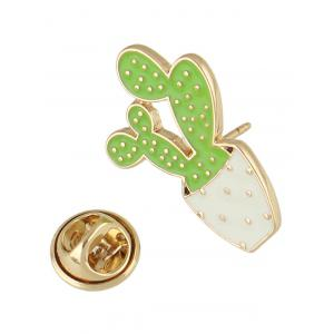 Potted Plant Enamel Brooch -