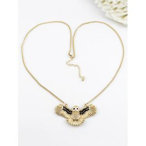 Flying Owl Pattern Pendant Chain Necklace -