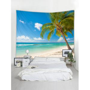Beach Palm Print Tapestry Wall Art -