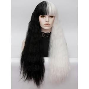 Long Full Bang Two Tone Corn Hot Curly Lolita Synthetic Wig -