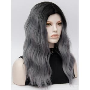 Long Middle Part Natural Wavy Colormix Synthetic Wig -