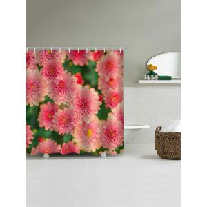 Floral Printed Waterproof Bath Curtain -