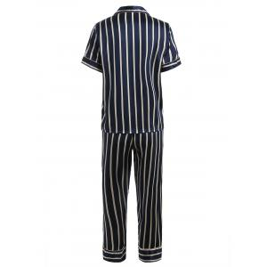 Striped Print Sleepwear Suit -