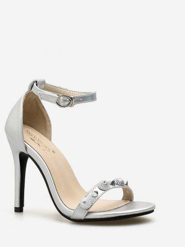 Sale Ankle Strap Rivet Stiletto Heel Pumps