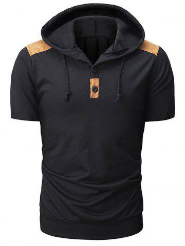 Outfit Patchwork Short Sleeve Hoodie