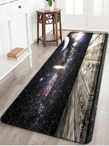 Fashion Milky Way Wood Grain Print Water Absorption Area Rug