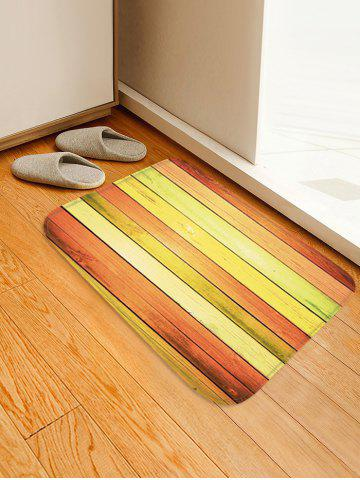 Unique Colorful Wood Flooring Pattern Water Absorption Area Rug