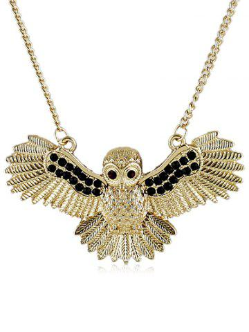 Hot Flying Owl Pattern Pendant Chain Necklace