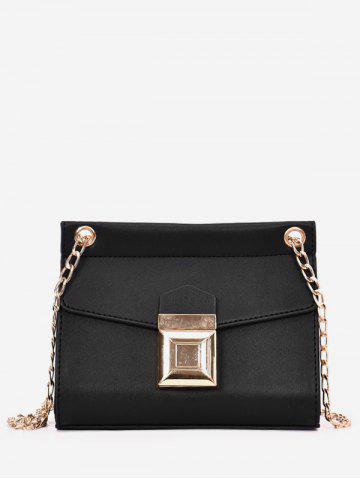 Trendy Faux Leather Daily Flapped Metallic Minimalist Crossbody Bag