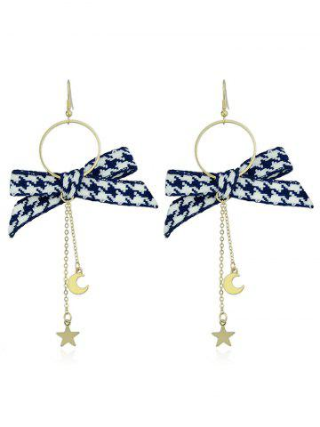 Online Circle Long Chain Earrings With Bow