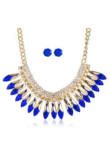 Best Rhinestone Pendant Necklace and Stud Earrings