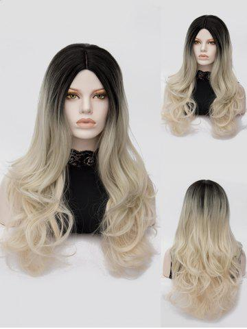 Shop Long Center Parting Colormix Wavy Party Synthetic Wig