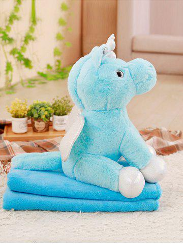 Online Unicorn Shape Plush Toy with Blanket