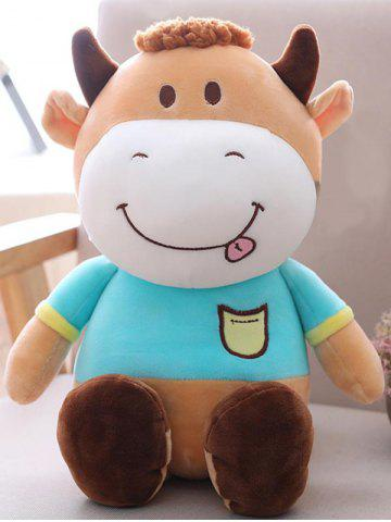 Outfit Cartoon Cow Shape Birthday Gift Plush Toy