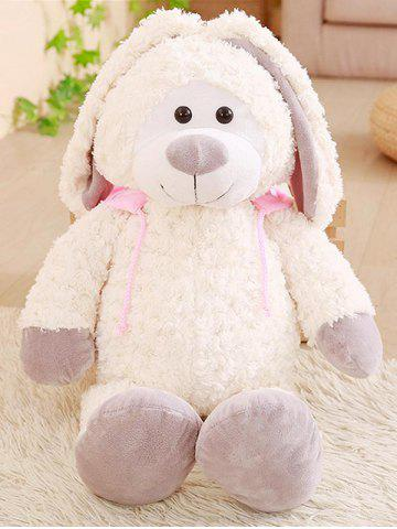 Fancy Hoodie Rabbit Shaped Plush Toy