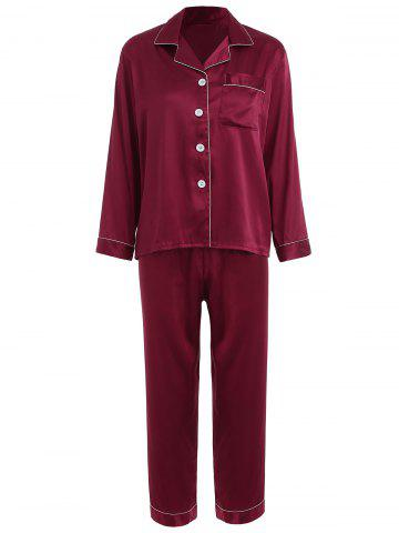 Outfits Satin Nightgown Set with Pocket