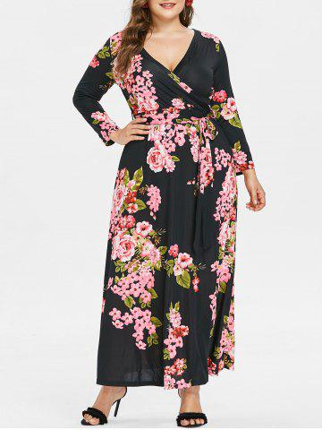 4cfc93653fb6e 51% OFF   2019 Plus Size Boho Print Flowy Beach Wrap Maxi Dress ...