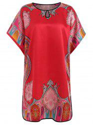 Keyhole Print Satin Nightdress -