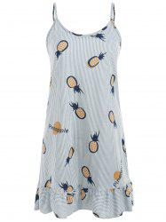 Pineapple and Stripe Print Nightdress -
