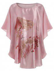 Butterfly Sleeve Floral  Pajamas Dress -