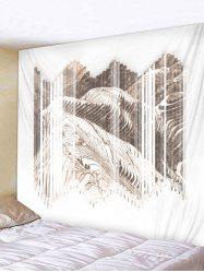 Wall Hanging Art Terraced Fields Print Tapestry -
