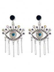 Eye Design Tassel Rhinestone Earrings -