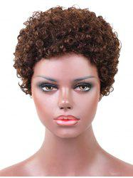 Short Afro Kinky Curly Pixie Capless Human Hair Wig -