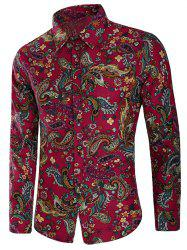 Casual Allover Paisley Floral Print Shirt -