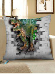 3D Dinosaur Broken Wall Print Sofa Pillowcase -