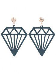 Hollow Out Diamonds Shaped Dangle Earrings -