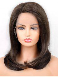 Medium  Side Parting Straight Synthetic Lace Front Wig -