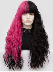 Long Full Bang Two-tone Water Wave Party Synthetic Wig -