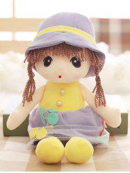 Faux Pearl Dress Girl Shape Plush Toy -