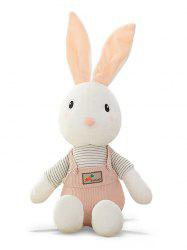 Striped Rabbit Shaped Plush Toy -