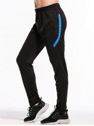 Zipper Bottom Stripe Embellished Sweatpant -