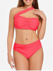 One Strap Ruched Bikini -