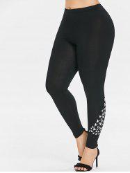 Plus Size Bat Pattern Leggings -