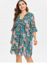 Floral Plus Size Skater Dress -