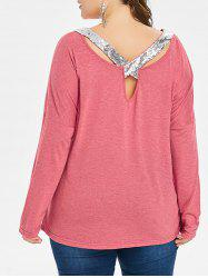 Plus Size Sequined Detail Long Sleeve T-shirt -