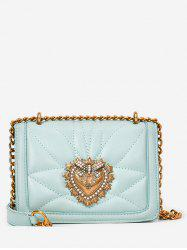 Daily Shopping Leisure Metallic Flap Chain Bag -