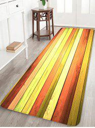 Colorful Wood Flooring Pattern Water Absorption Area Rug -