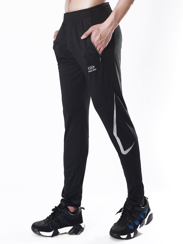 Affordable Luminous Icon Stripe Zipper Bottom Sports Pants