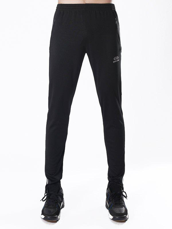 Online Luminous Striped Zipper Pocket Activewear Pants