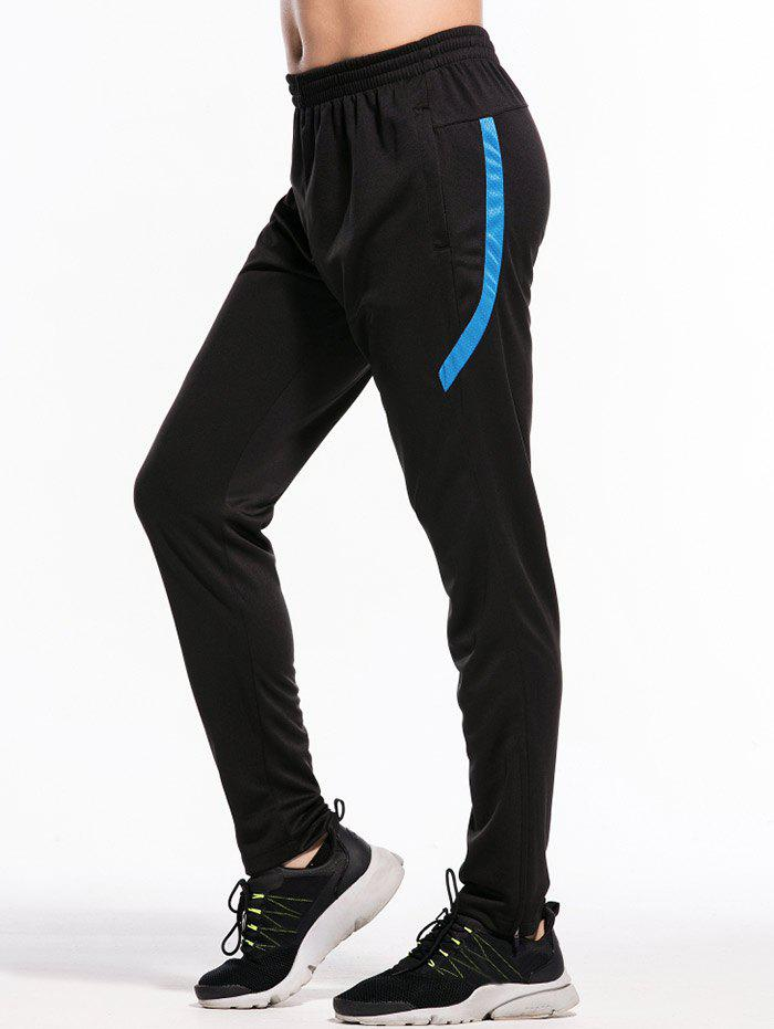Best Zipper Bottom Stripe Embellished Sweatpant