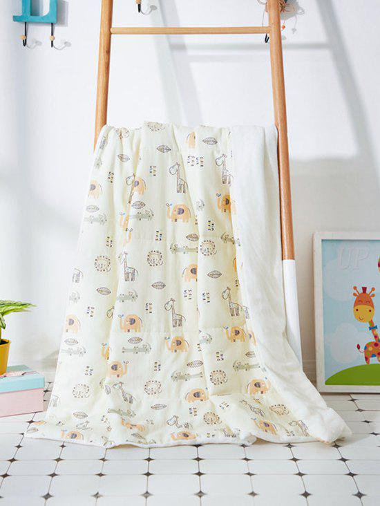 Affordable Giraffe Printed Soft Bed Blanket