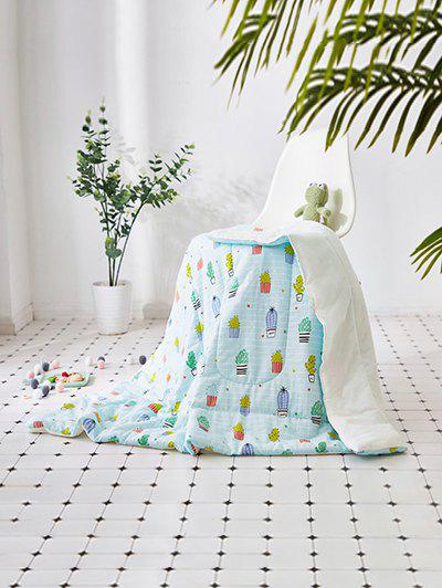 Fashion Cactus Printed Soft Bed Blanket