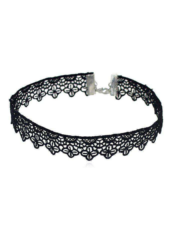 Outfit Flower Designed Lace Choker Necklace