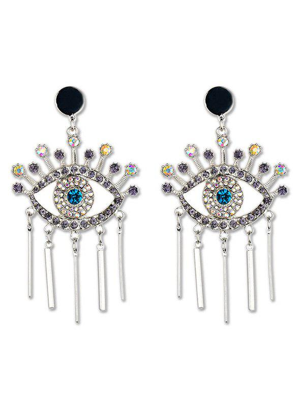 New Eye Design Tassel Rhinestone Earrings